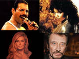 Freddie Mercury Gloria Gaynor Dalida Johnny Hallyday