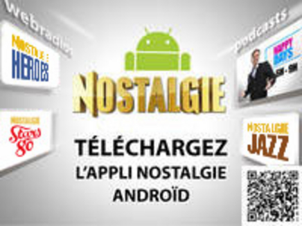 L'application Nostalgie Androïd